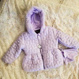 Toddler Girls Rothschild Sparkle Quilt Jacket